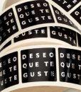 "Etiqueta ""DESEO"" castellano"