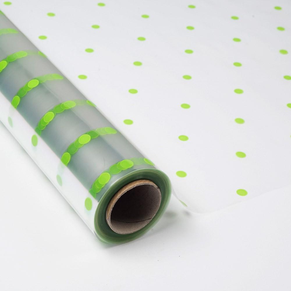 Papel de regalo transparente con topos verdes - Papel de regalo transparente ...