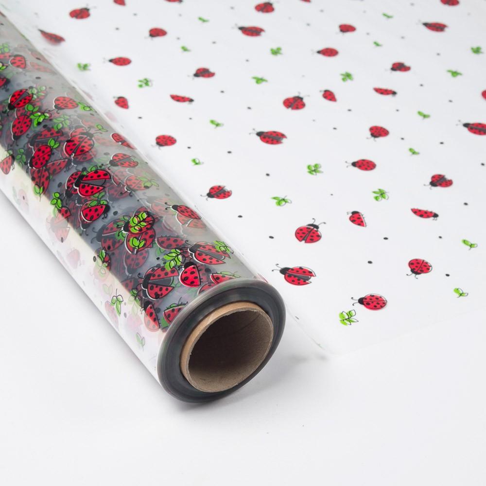 Papel de regalo transparente con mariquitas rojas - Papel de regalo transparente ...