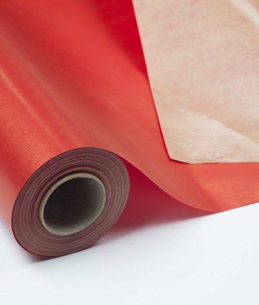 Bobina Kraft Plastificado Impreso Rojo