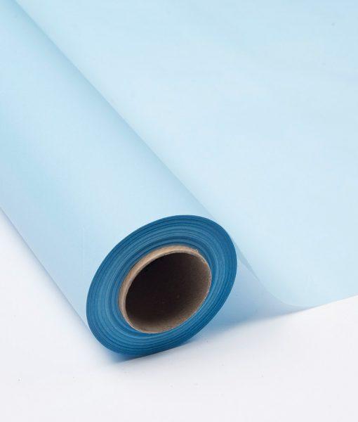 Bobina Papel Seda 17 grs. Impreso Azul