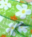 Rollo Cinta Textil Flor/Letras