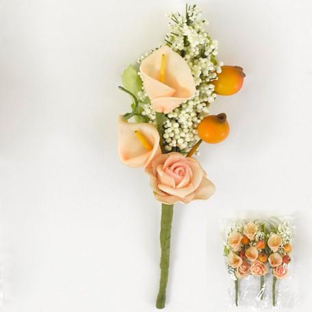 Ramo de flores plástico (3 unidades)