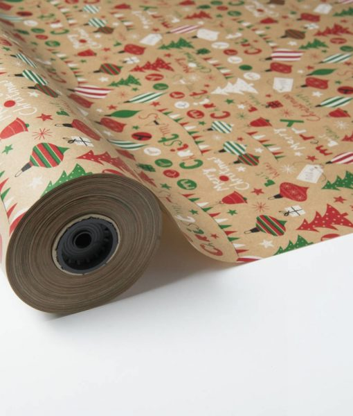 bobina papel kraft navideño