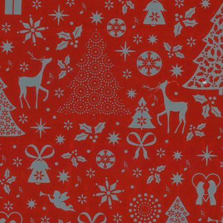 Bobina papel de regalo metalizado impreso navidad - Papel de regalo navidad ...