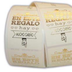 """Etiqueta """"REGALO"""" castellano"""