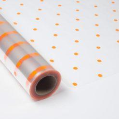 """Polipropileno Transparente Impreso """"Topo Naranja"""""""
