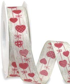 Rollo Cinta Textil Corazones