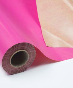 Bobina Kraft Plastificado Impreso Fucsia