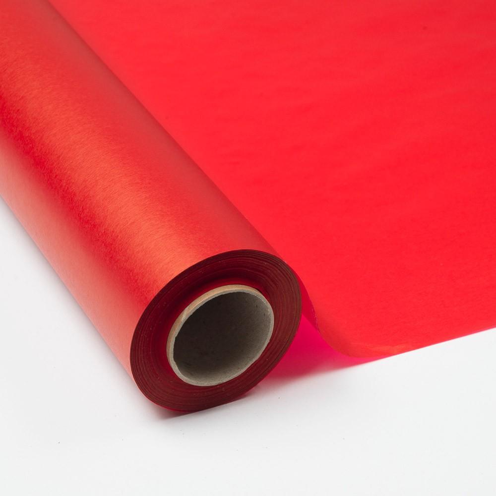 Bobina Papel Seda 17 grs. Impreso Rojo