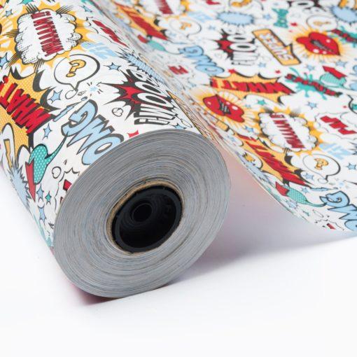 bobina papel regalo comic