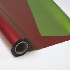 """Bobina Polipropileno Fondo Impreso """"Doble Cara Verde/Rojo"""""""