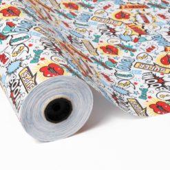 bobina papel de regalo comic