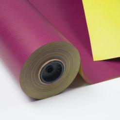 Papel de Regalo Doble Cara Violeta y Amarillo