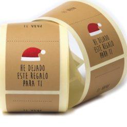 """Etiqueta Navidad """"REGALO PARA TI"""" Castellano"""