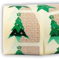 """Etiqueta Navidad """"FELICES FIESTAS"""""""