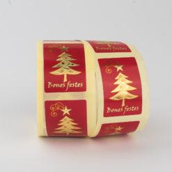 """Etiquetas de Navidad con frase """"BONES FESTES"""""""
