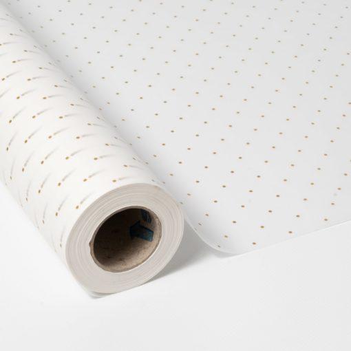 bobina papel seda blanco puntitos oro