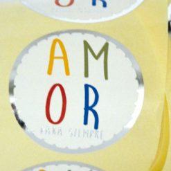 """Etiqueta """"AMOR"""" Castellano"""