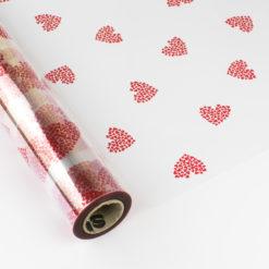 Papel de Regalo Polipropileno Transparente - Corazones - San Valentín