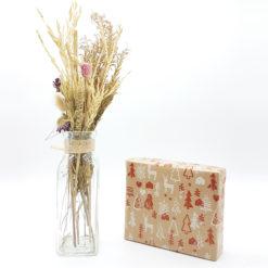 caja regalo kraft navidad