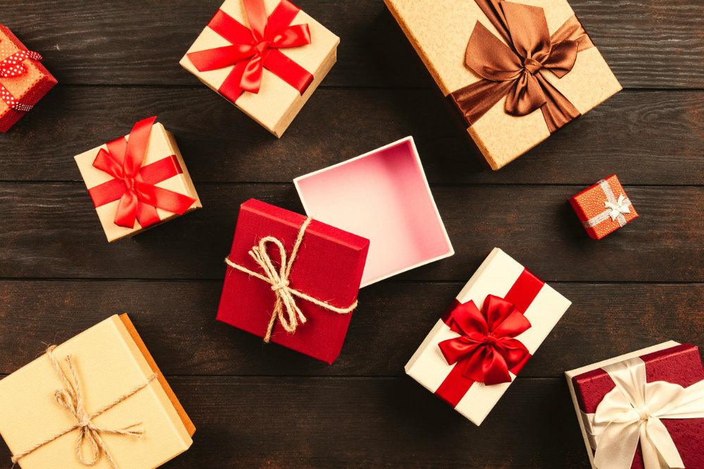 lazos para los regalos de navidad