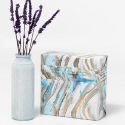 papel de regalo textura agua