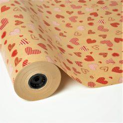Papel Kraft Impreso con Corazones