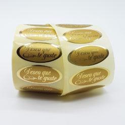 etiqueta deseo que te guste dorado