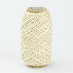 Rollo Cordón Textil Yute Blanco