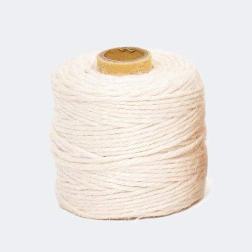rollo cordón textile yute blanco 50m