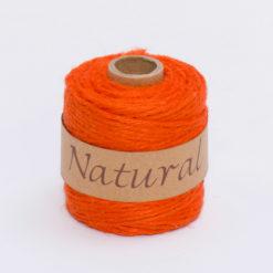 Rollo Cordón Textil Yute Naranja