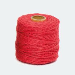 Rollo Cordón Textil Yute Rojo