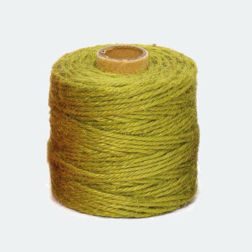 Rollo Cordón Textil Yute Verde